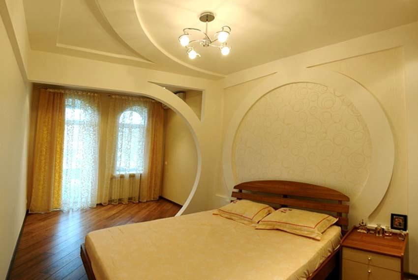Потолки из гипсокартона фото для спальни своими руками